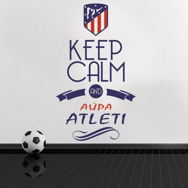 Autocollants en vinyle keep calm and aúpa atleti
