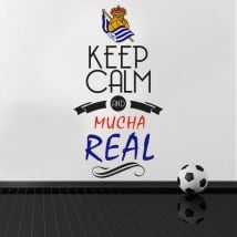 Autocollants vinyles de football keep calm and mucha real