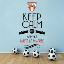 Autocollants football football keep calm and sevilla hasta la muerte