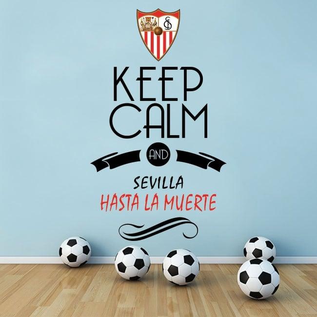 Autocollants football football keep calm and sevilla hasta la muerte