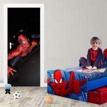 Vinyle décoratif et des autocollants pour les portes spiderman