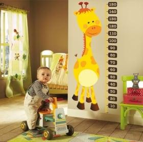 Vinyle et autocollants mètre de hauteur girafe pour enfants