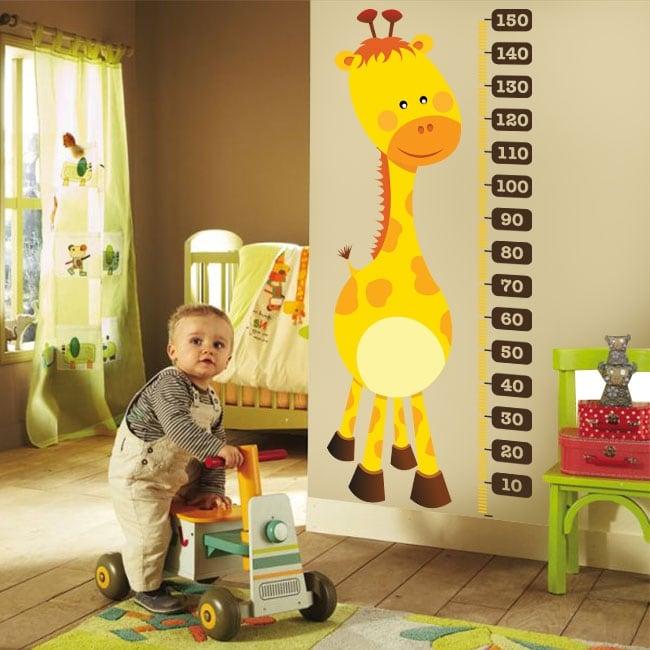 Autocollants en vinyle mètre de hauteur girafe