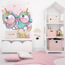 Vinyle décoratif et des autocollants des licornes