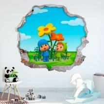 Vinyle et stickers enfants 3d pocoyo