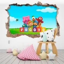 Vinyle pour enfants ou de bébé pocoyo 3d