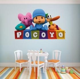 Autocollants décoratifs pour enfants ou bébés pocoyo