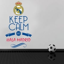 Vinyle de football keep calm and hala madrid