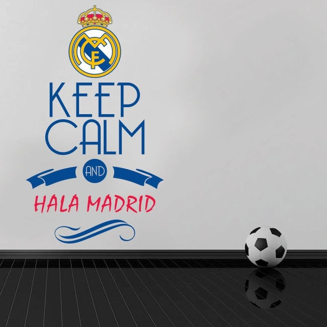 Vinyle de football keep calm and hala madrid