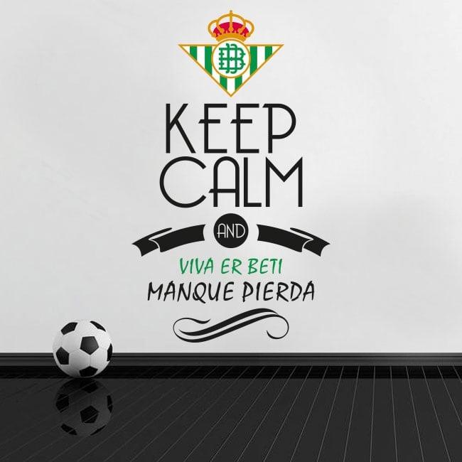 Vinyle de football keep calm and viva er beti manque pierda