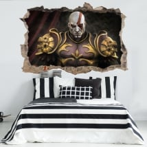 Vinyle et autocollants 3d kratos god of war throne