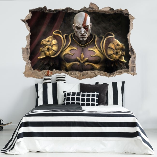 Vinyle et autocollants 3d kratos god of war throne
