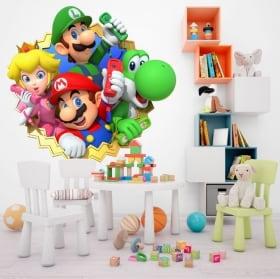 Vinyle décoratif enfants ou jeunes mario party