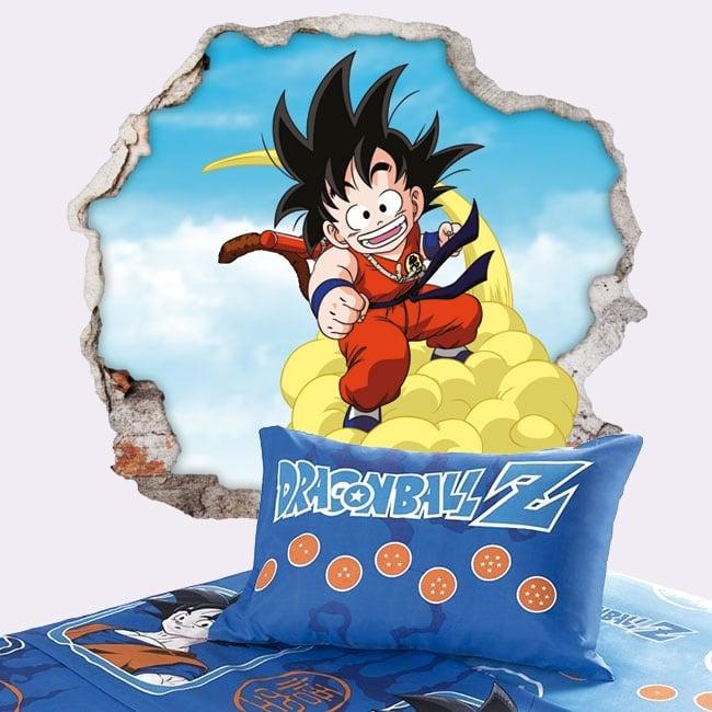 Vinyle décoratif dragon ball son goku 3d