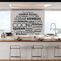 Vinyle et autocollants cuisine en plusieurs langues