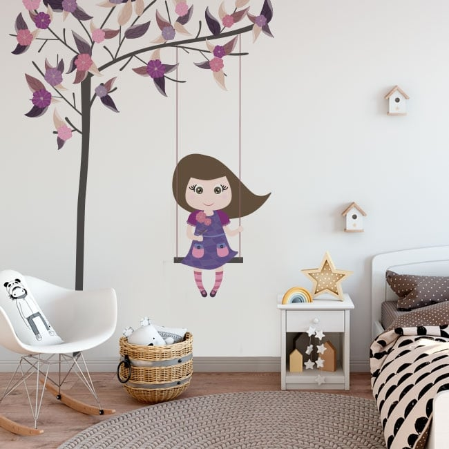 Vinyle décoratif et autocollants balancer sur l'arbre
