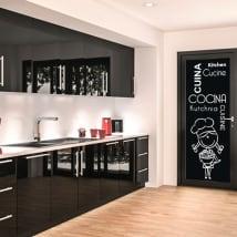 Vinyle pour portes de cuisine en plusieurs langues