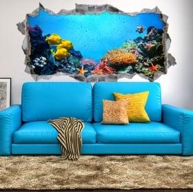 Vinyle décoratif et autocollants 3d monde marin