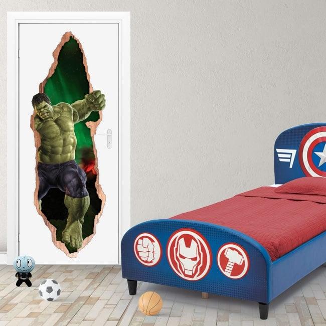 Vinyle marvel portes 3d hulk