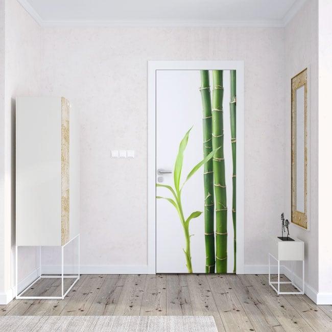 Vinyle pour portes bambou