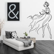 Vinyle décoratif et des autocollants silhouette de femme