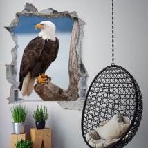 Vinyle 3d aigle chauve américain