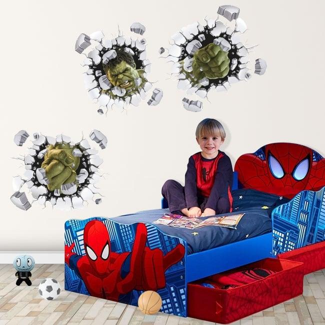 Vinyle enfants ou jeunes 3d marvel hulk