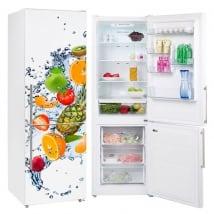 Vinyles pour réfrigérateurs fruits et éclaboussures d'eau
