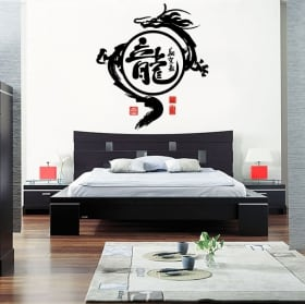 Panneaux luminescents divisant fluowall Oriental Geisha
