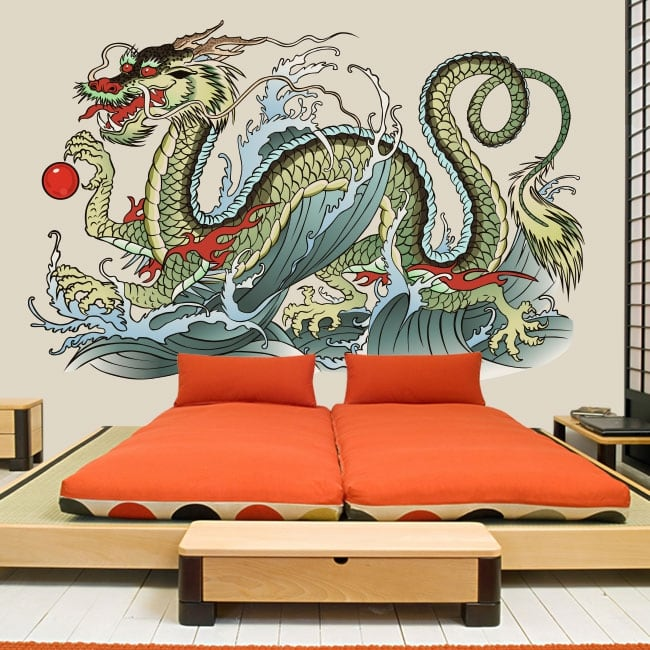 Vinyle et autocollants dragon oriental