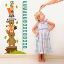Vinyle et autocollants les animaux hauteur mètre enfant