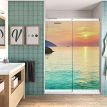 Vinyle écrans de salle de bain aube plage côn đào vietnam