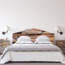 Vinyle têtes de lit lits texture de bois rustique