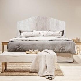 Vinyle et autocollants têtes de lit texture du bois