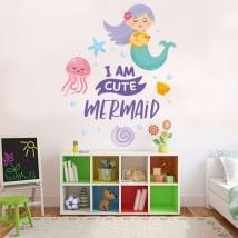 Vinyle décoratif et autocollants pour enfants phrase petite sirène