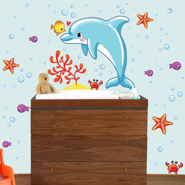 Vinyle pour enfants de bébé monde marin