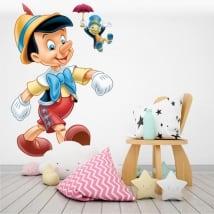 Vinyle pour enfants o bébé pinocho et jiminy le cricket