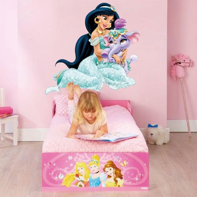 Vinyle enfants ou jeunes princesse jasmin et l'éléphant