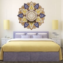 Vinyle et autocollants avec des mandalas pour la tête de lit