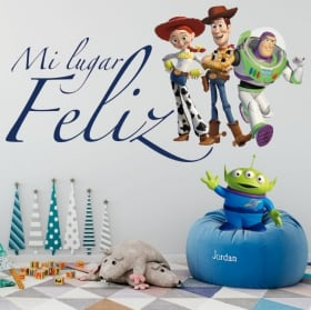 Vinyle pour enfants toy story phrase buzz lightyear