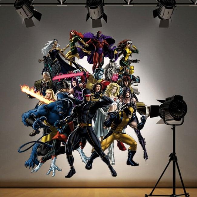 Autocollants et vinyles décoratifs super-héros x-men