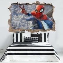 Autocollants décoratifs 3d spiderman selfie