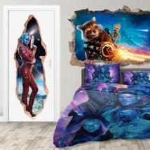 Autocollants de porte 3d nebula gardiens de la galaxie
