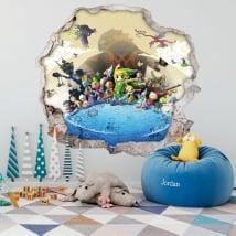 Vinyle décoratif jeu vidéo 3d the legend of zelda