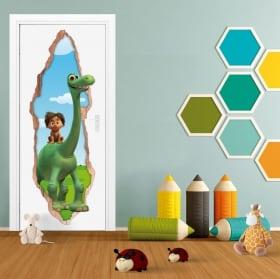 Vinyle pour enfants portes 3d disney le voyage de arlo