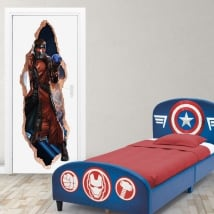 Vinyle marvel portes 3d star-lord