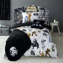 Vinyle têtes de lit star wars