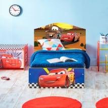 Vinyle pour enfants disney cars 2 tête de lit