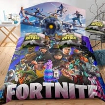 Vinyle jeux video fortnite tête de lit