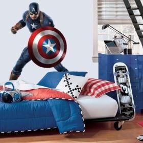 Vinyle et autocollants marvel captain america